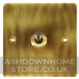 Flat Plate Antique Bronze Toggle Light Switches